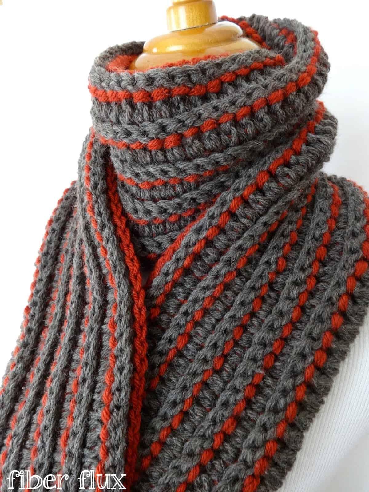 Uitgelezene Kleurrijke sjaals haken met gratis patronen - Hobby.blogo.nl WK-78