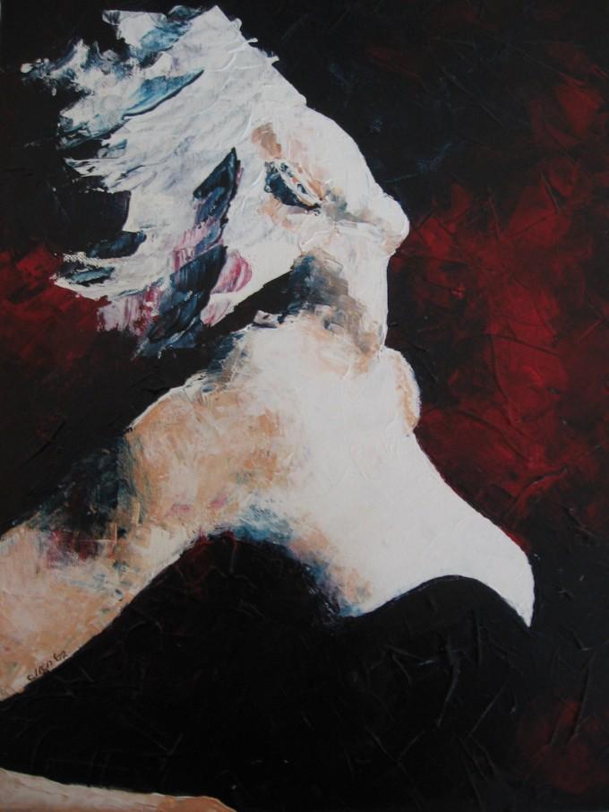 Schilderen met plamuurmes, Madonna