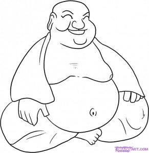kleurplaat lachende boeddha hobby blogo nl