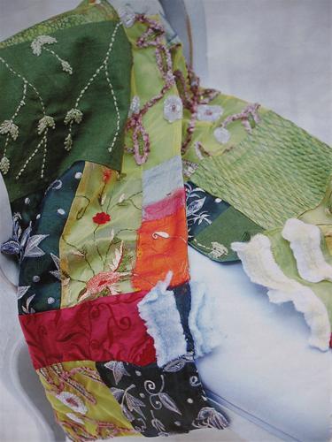 hoe patchwork sjaal maken van restjes soepel stof
