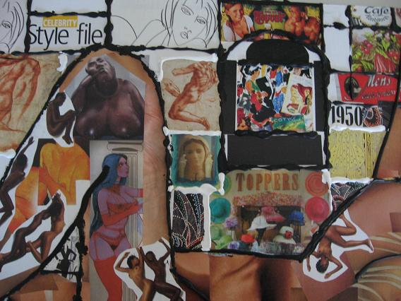 BLOTE VROUW collage 2006 impressie 2