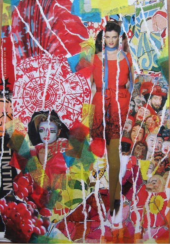 MANDALA 2005 collage ellen figee