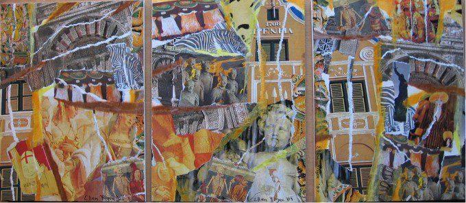 YELLOW 2005 drieluik collage ellenfigee