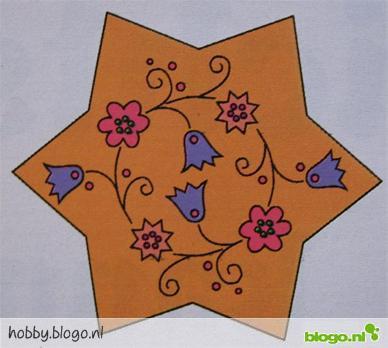 patroon orientaalse kerstboom versiering