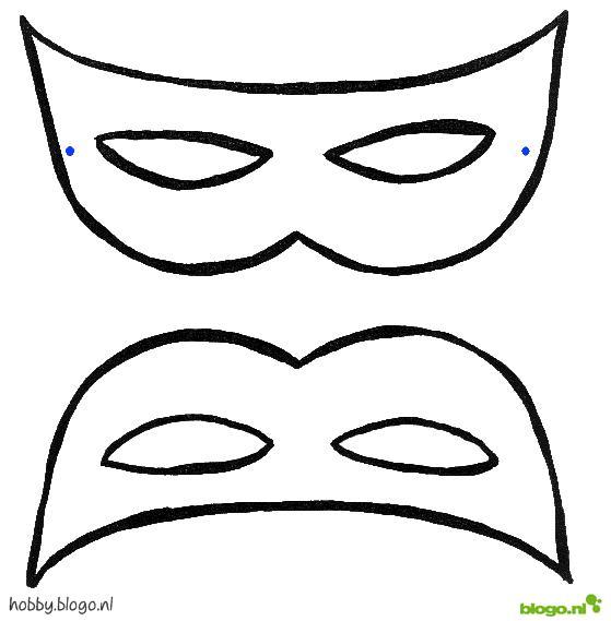 oogmasker met veren