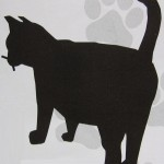 Silhouet van een poes of kat