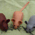 Patroon vilten muis en muis haken