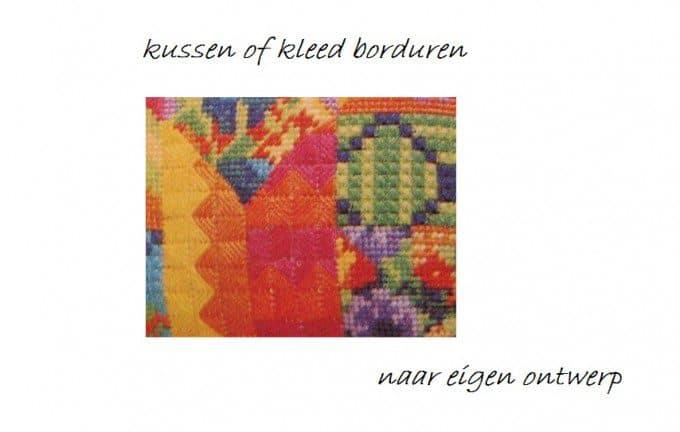 patchwork kussen borduren