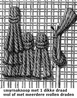 Welke soorten knopen om tapijt te knopen