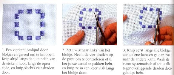 Wit op wit borduren of ton sur ton - Hobby.blogo.nl