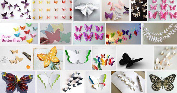 Papieren vlinder vouwen. Bron: Google.nl