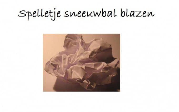 prop papier sneeuwbal blazen