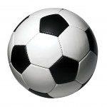 Voetbal surprise van papiermache