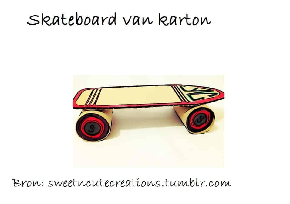 skateboard van karton knutselen 1