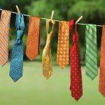 Kussen maken van oude stropdassen