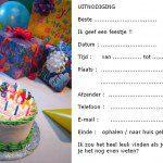 Uitnodiging kinderfeestje mooi voorbeeld