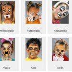 Voorbeelden schminken kinderen en volwassenen