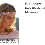 Haakpatroon haarband met bloemen