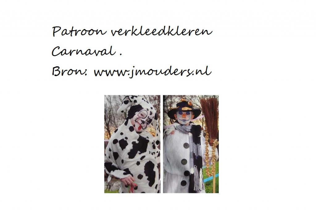 patroon carnaval kleding kinderen