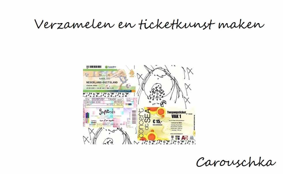verzamelen en ticketkunst maken
