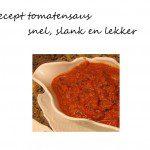 Recept tomatensaus slank snel lekker