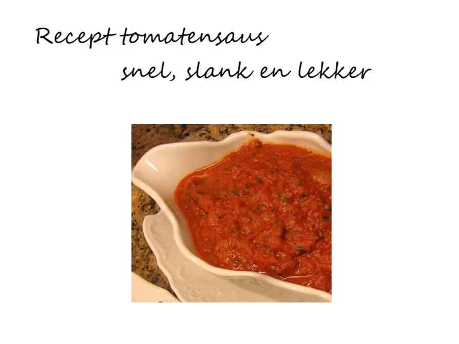 recept tomatensaus