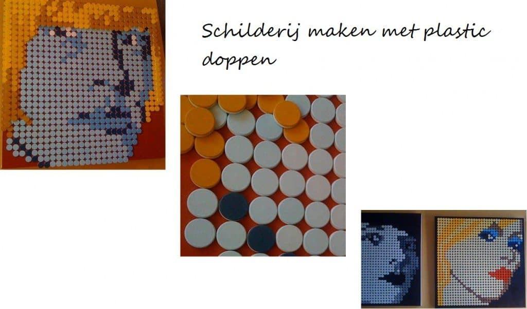 schilderij plastic doppen 1