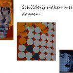Schilderij maken met plastic doppen