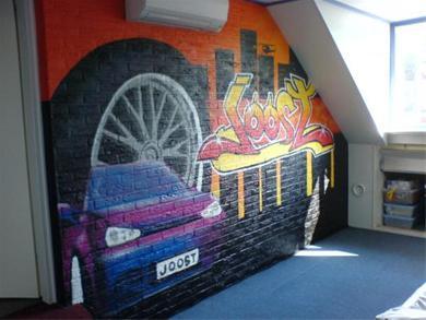 Slaapkamermuur verven beste inspiratie voor interieur for Auto interieur verven