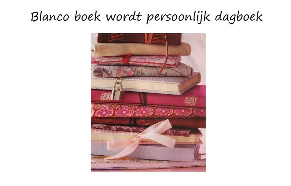 blanco boek wordt persoonlijk dagboek