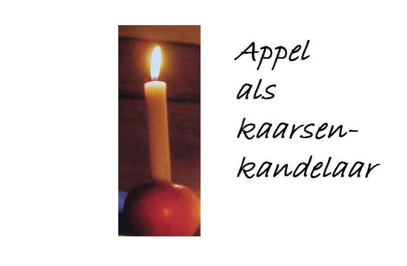 Appel als kaarsenkandelaar zelf maken