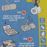 Horloge knutselen met Edet WC-rol