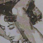 Kunst met kranten foto's en knipsels