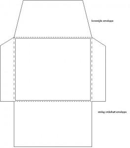 bouwplaat enveloppe vouwen