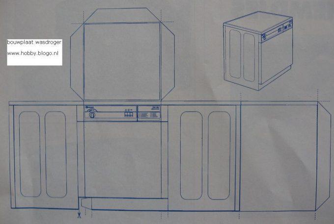 bouwplaat wasdroger