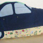 Patroon knuffelauto of speelauto van stof