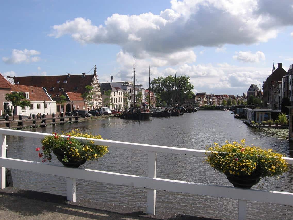 wandelroute door Leiden