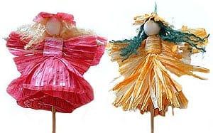 Bloemen maken van papiergaren