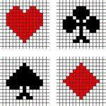 Kruissteek patronen kaartspel symbolen