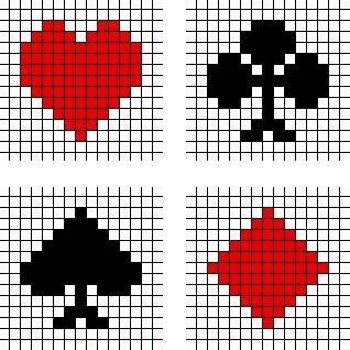 Kruissteek patronen kaart symbolen