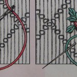 Borduurpatroon roosjes borduren op je jeans