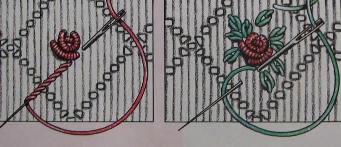 borduurpatroon roosje