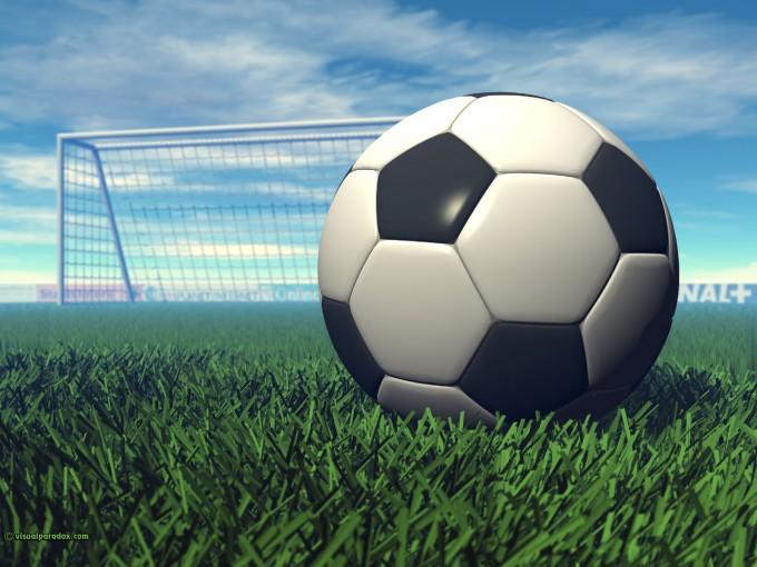 Bouwplaat voetbal bijvoorbeeld als sinterklaas surprise