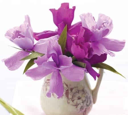 Bloemen Van Crepepapier Zelf Van Crepepapier