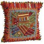 Kussenovertrek versieren met patchwork en vrij borduren