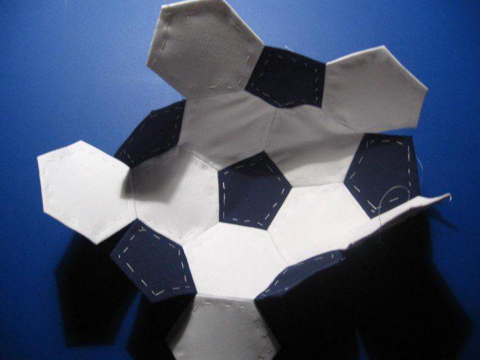 patroon 4 voetbal quilten patchwork