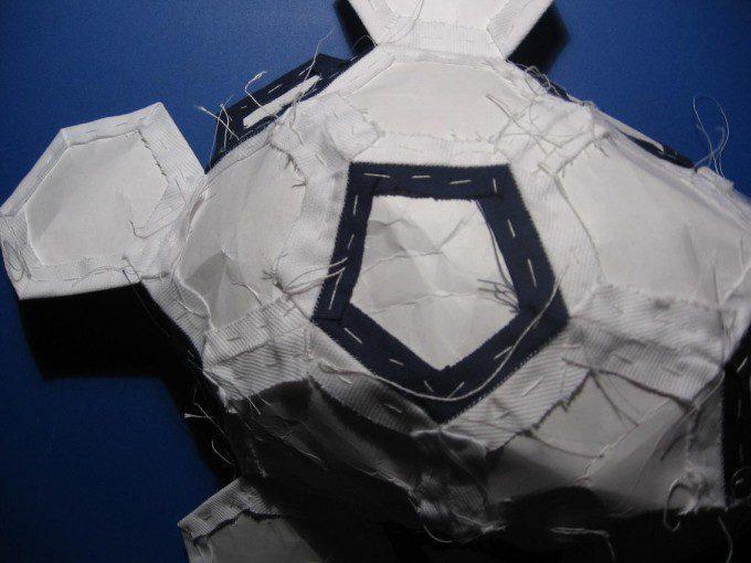 patroon 5 voetbal quilten patchwork