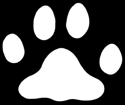 Sjabloon afdruk kattenpootje voor decoreren