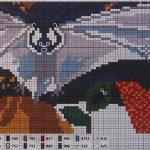 Vleermuis borduren met dit gratis patroon