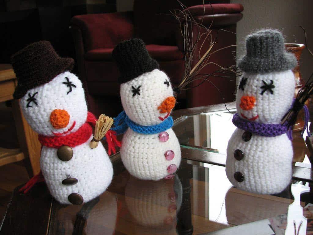 Haakpatroon kleine sneeuwpop haken